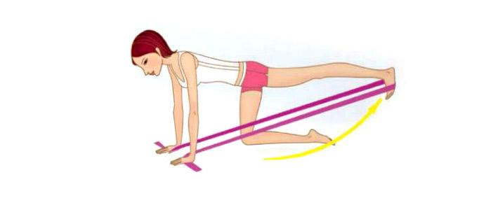 Выпрямление ноги назад