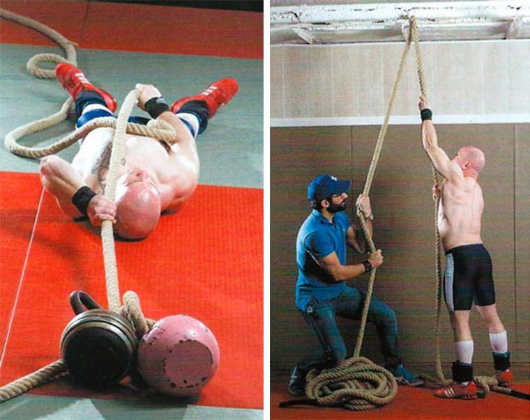 Вспомогательные упражнения для лазанья по канату