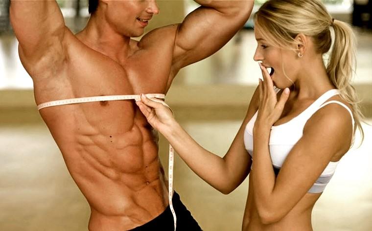 Девушке нравятся мышцы