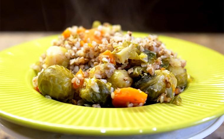 Рагу из гречки с овощами