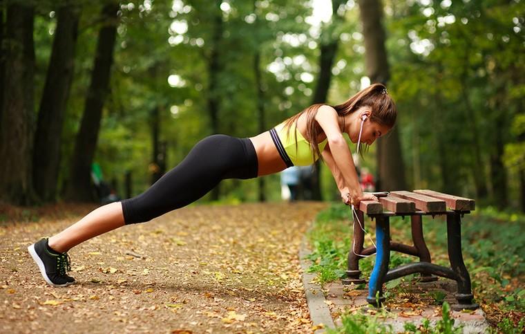 Комплекс упражнений со скамейкой